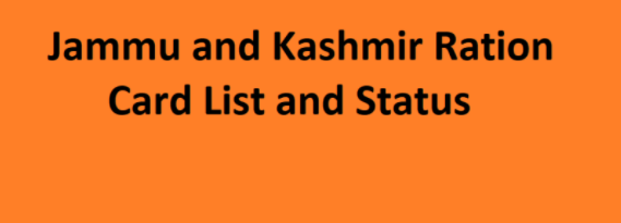 Jammu and Kashmir Ration Card List 2021″j&k Village Wise List