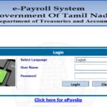 TN Treasury ePayslip: ECS Status Pensioners, Govt Employee, DDO Report